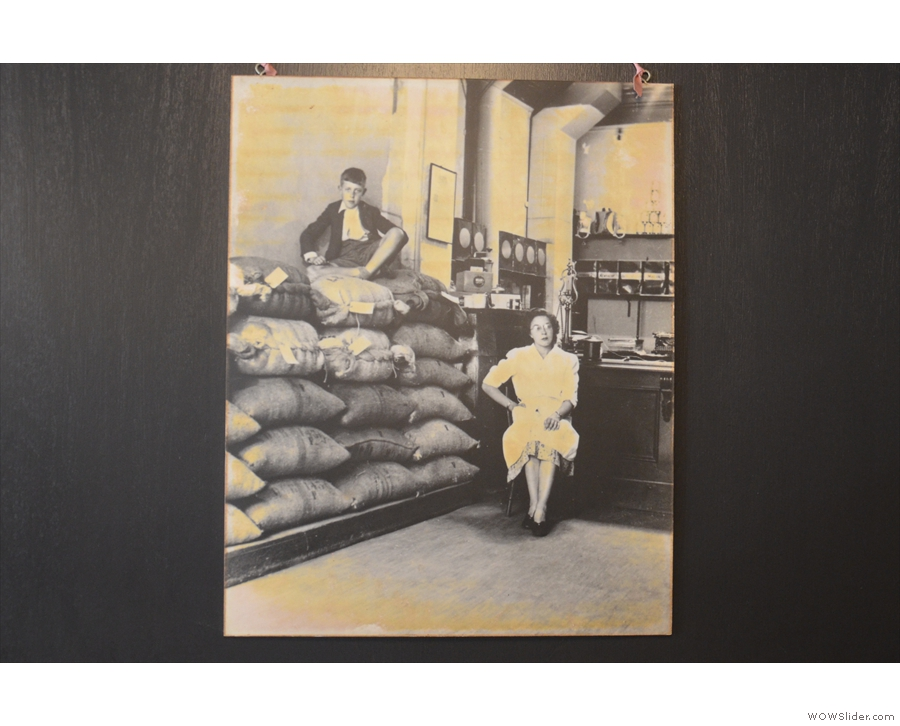 This, meanwhile, is HR Higgins' son, Tony, sitting on a pile of coffee sacks.