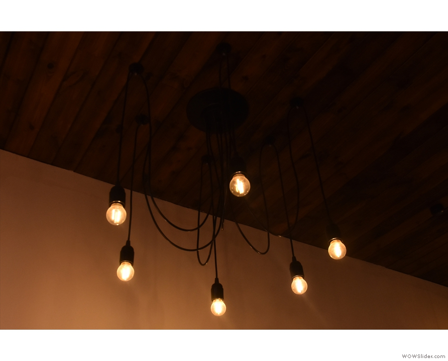 ... and, finally, one of the multiple clusters of lights hanging from the ceiling.