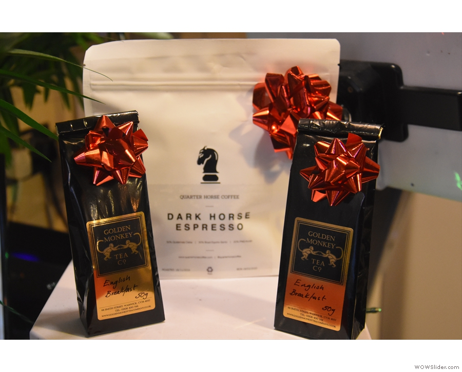 The Dark Horse espresso blend is from Quarter Horse Coffee Roasters, while there's also...