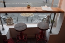 The stools at the window-bar in more detail.