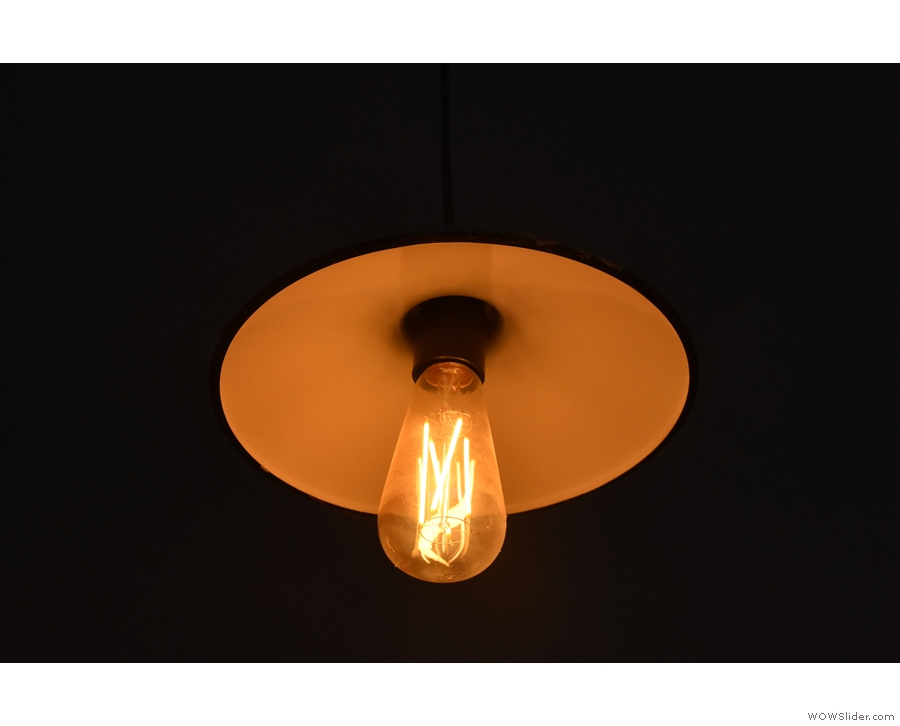 ... including lots of these exposed bulbs like this one.