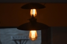 Despite all the windows, Coffee Curiosity has plenty of light fittings...