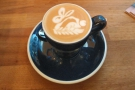 Check out the awesome latte art...