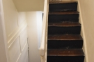 Talking of the door, the stairs continue upwards...