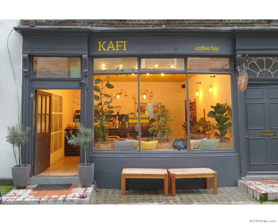 January: the welcoming interior of Kafi, in London.