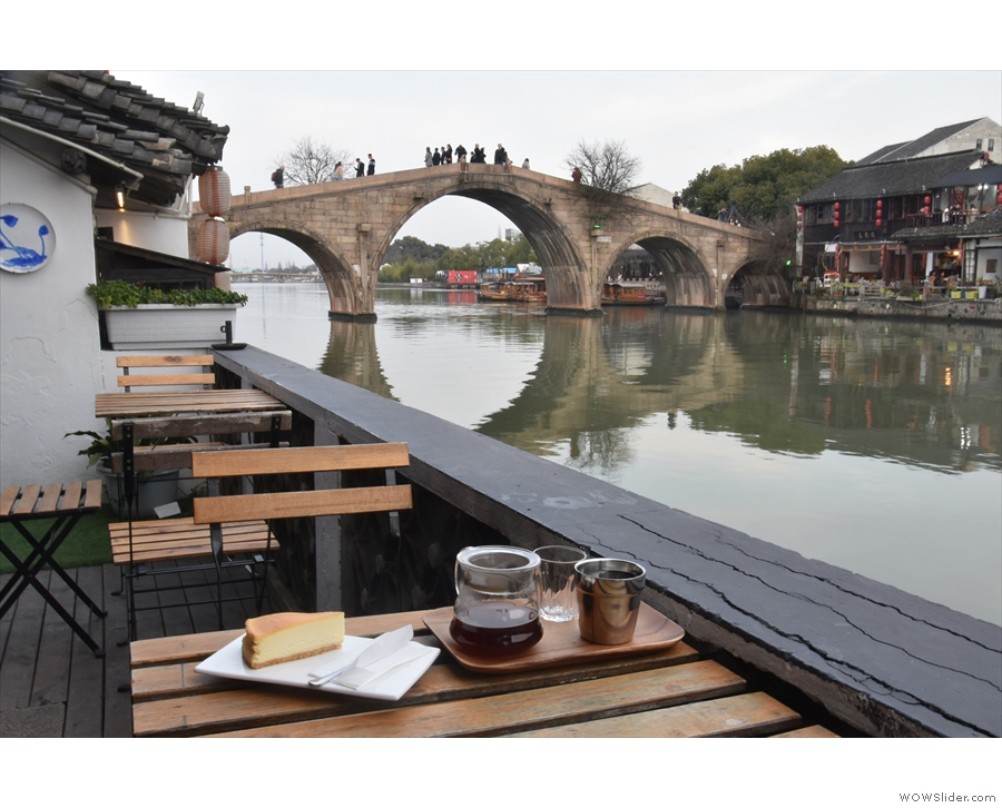 March: taking in the views at The Point in the ancient Water Town of Zhujiajiao, Shanghai.