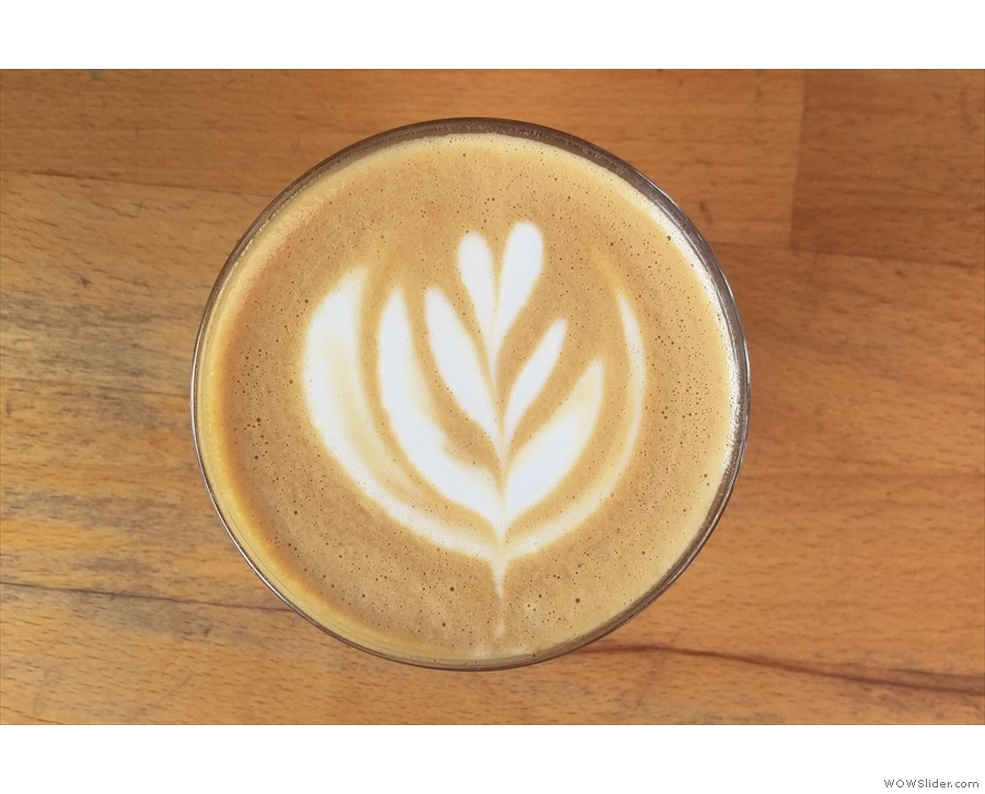 The latte art is worth a second look...
