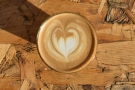 As before, my flat white had some lovely latte art...