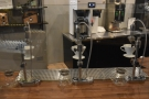 ... while the pour-over is made on these Modbar automated systems at the front.