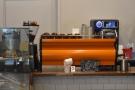 The espresso machine, a La Marzocco Strada, is right at the back...