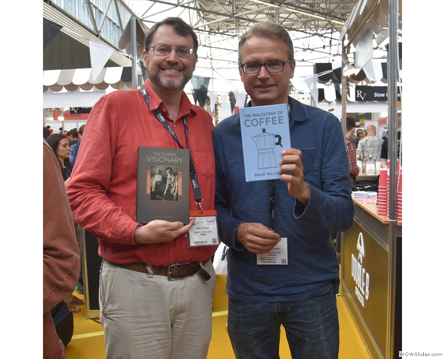 From last year, there's  Jasper Houtman's The Coffee Visionary. Here's me with the author.