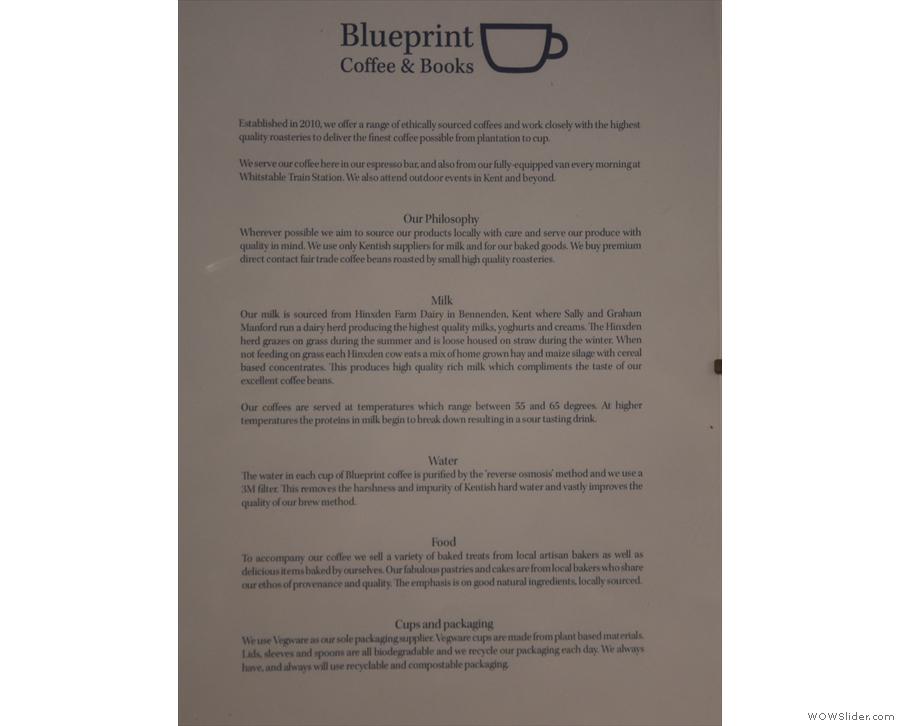 Blueprint's philosophy.