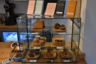 There's also a selection of cake in a large display case at the right-hand end of the counter.