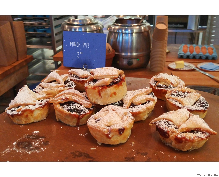 Since I visited in December, there were also mince pies.