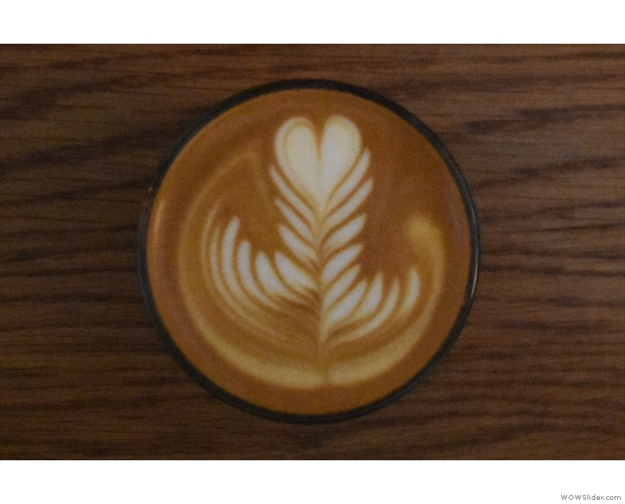 ... with some lovely latte art...