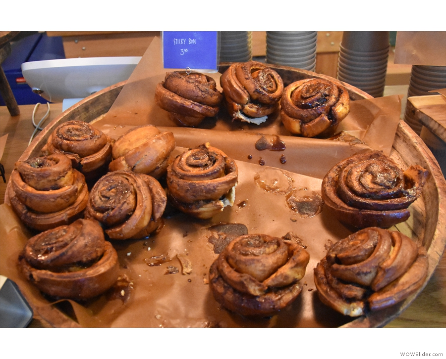 There are sticky buns...
