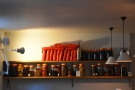 Fortitude uses every available space for storage, such as these shelves at the far end...