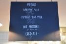 Then comes the concise espresso menu...