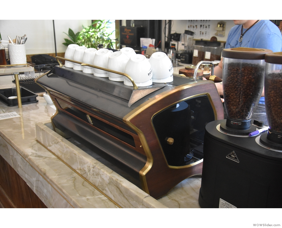 However, I was there for coffee, the customised La Marzocco Strada taking pride of place...