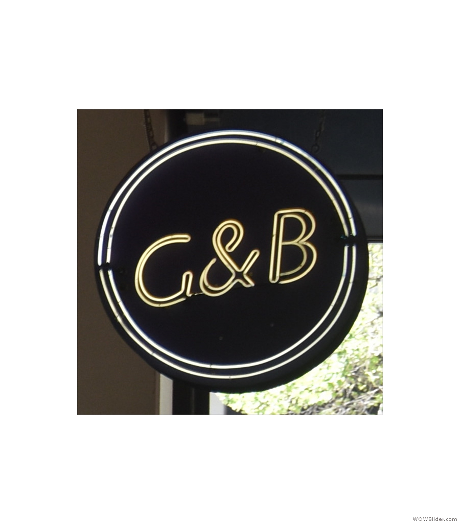 G & B Coffee, inside the historic Grand Central Market in downtown Los Angeles.