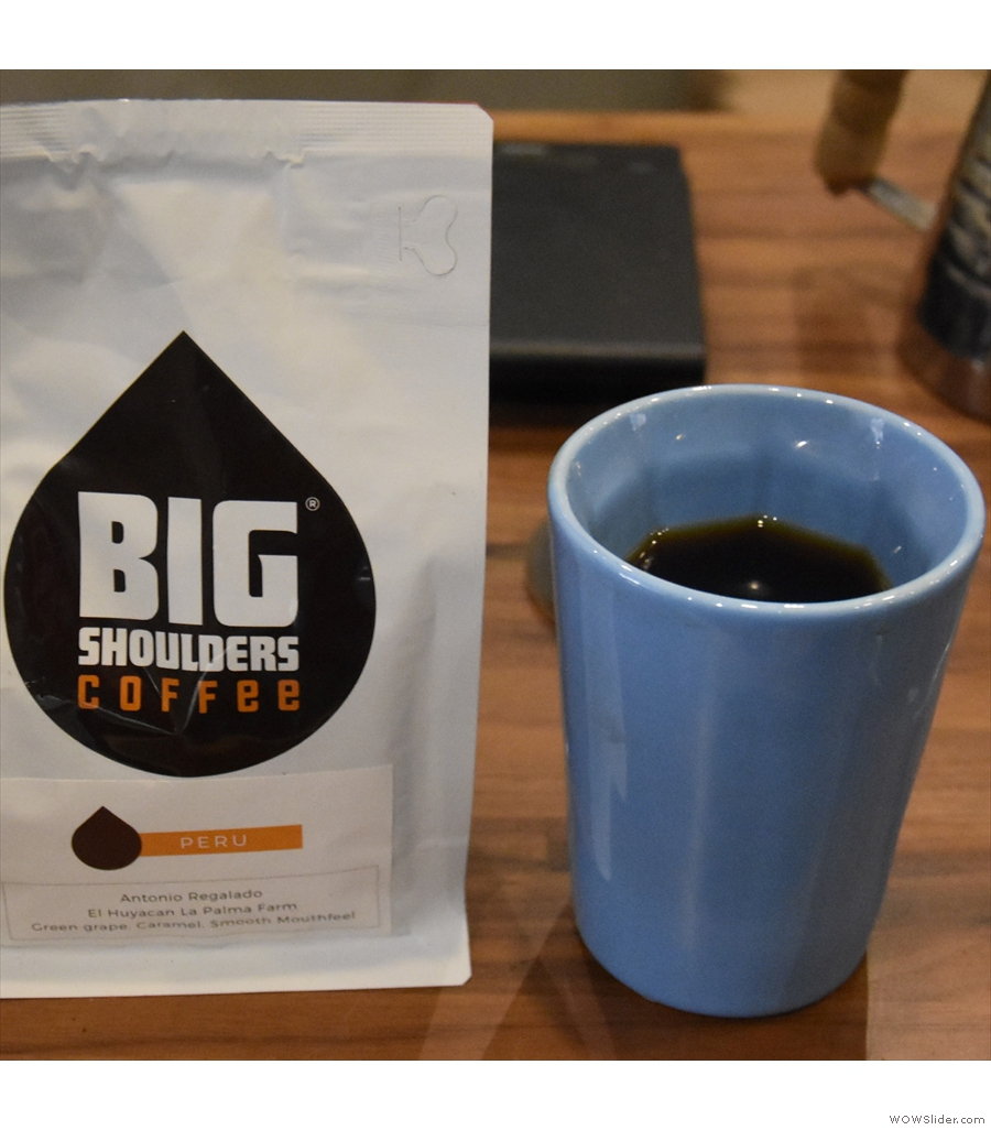 A lovely Peruvian pour-over to go in my Therma Cup at Big Shoulders, The Loop, Chicago.