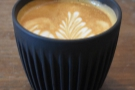 Mouse Tail Coffee Stories, Whitechapel, where I had this flat white in my HuskeeCup.