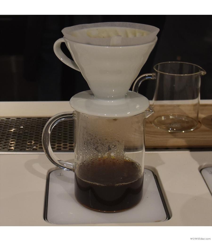 Little Bean Coffee Museum, with a delicate, subtle Costa Rica Santa Teresa Geisha.