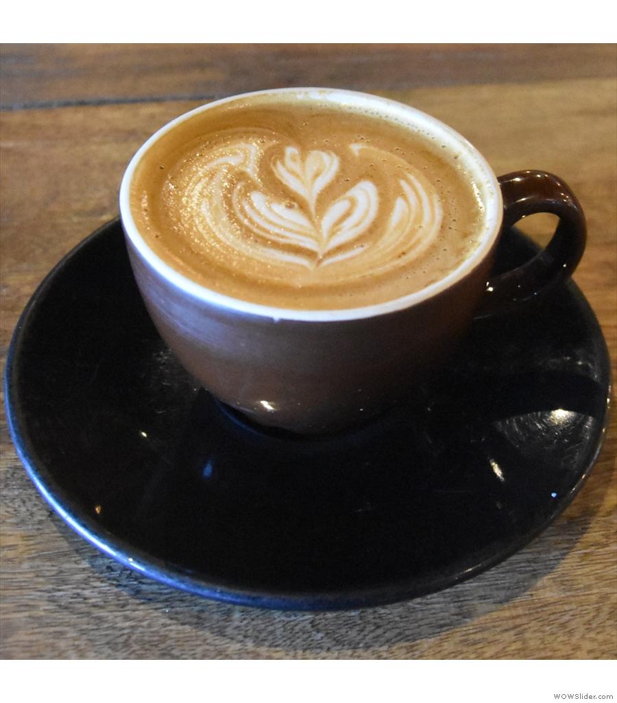 Maverick Coffee, where I enjoyed a rich, complex, fruity natural Ethiopian.