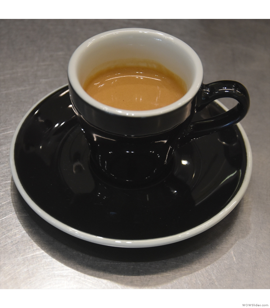 Seesaw IFC, continuing my exploration of Chinese coffee with a honey-processed Yunnan.