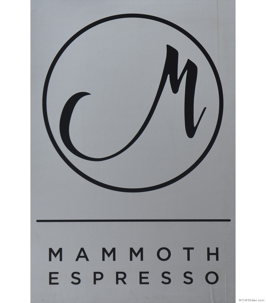Mammoth Espresso, just down the road from the Amtrak Station in New Orleans.