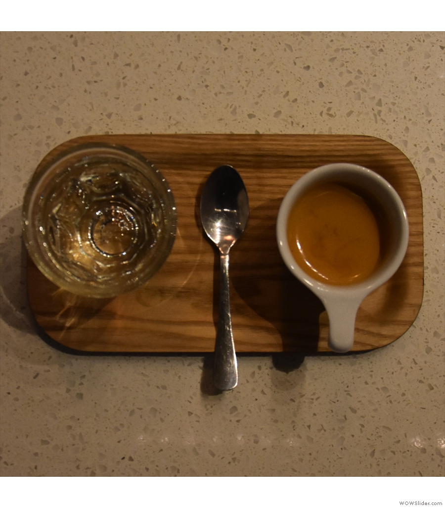 Presta Coffee, Mercado San Augustin, and another cortado made with the 120PSI blend.
