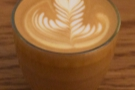 Fortitude Bakehouse, and this naturally-processed Ethiopian Ana Sora, in a 6oz with milk.