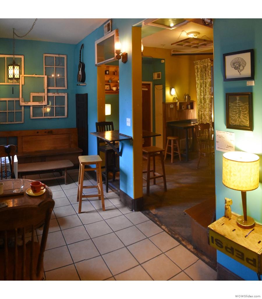 Ipsento, the cosiest of cosy back rooms.