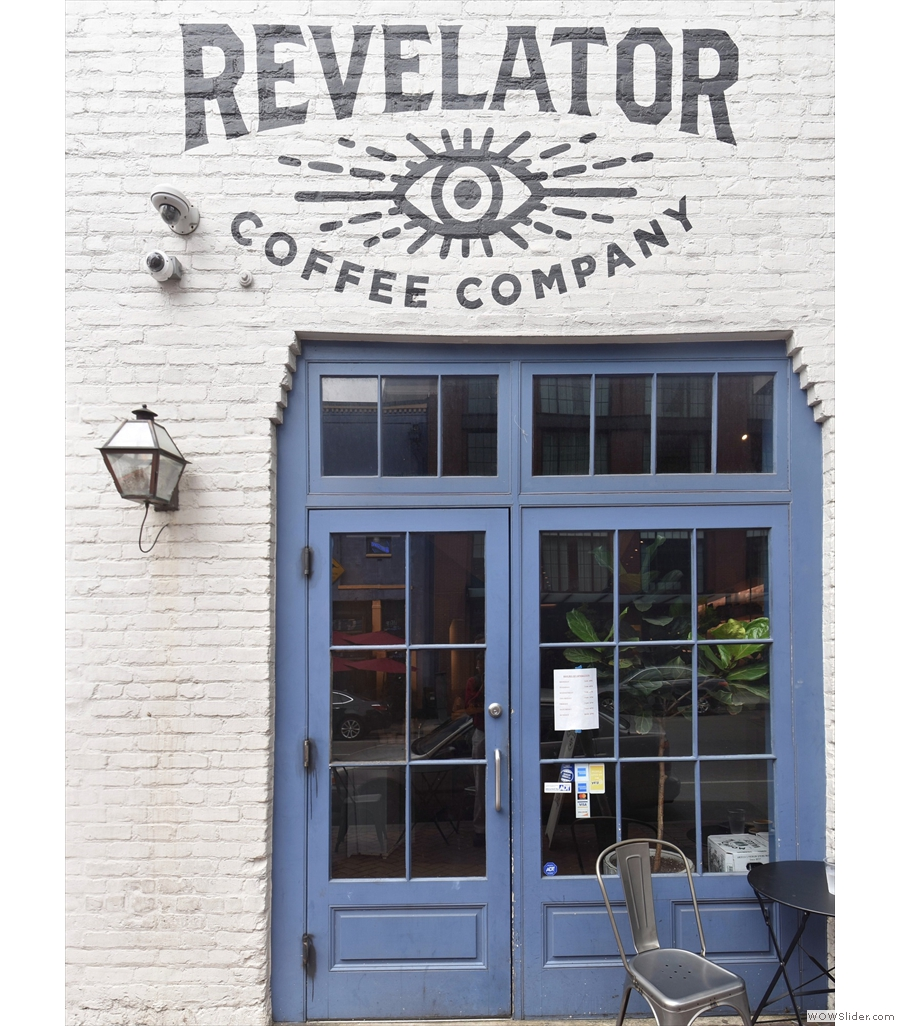 Revelator Coffee, Tchoupitoulas Street, where the manager made me feel at home.