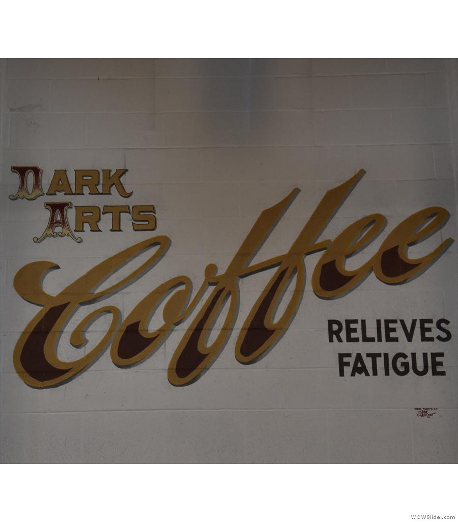 Back in London it's I Will Kill Again, coffee shop of roasters Dark Arts Coffee...