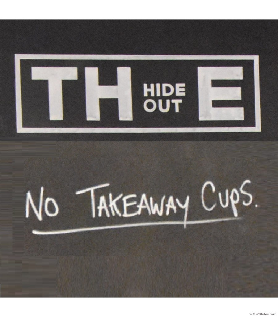 The Hideout, the Most Unlikely Place to Find a Coffee Spot.