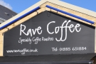 The lovely Rave Coffee Cafe just outside Cirencester