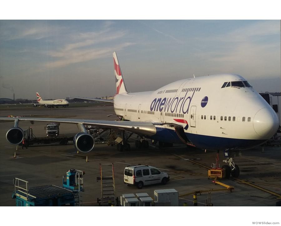 My first trip of 2019 was on a British Airways 747 to Phoenix...
