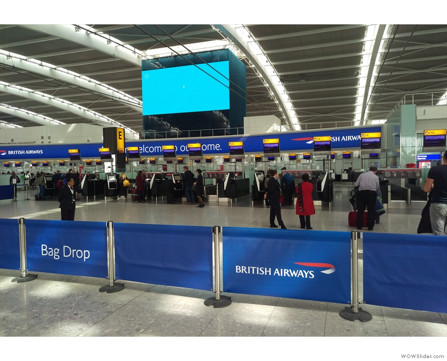 These days, even though I can use the Club World/First check-in desks, I prefer to...