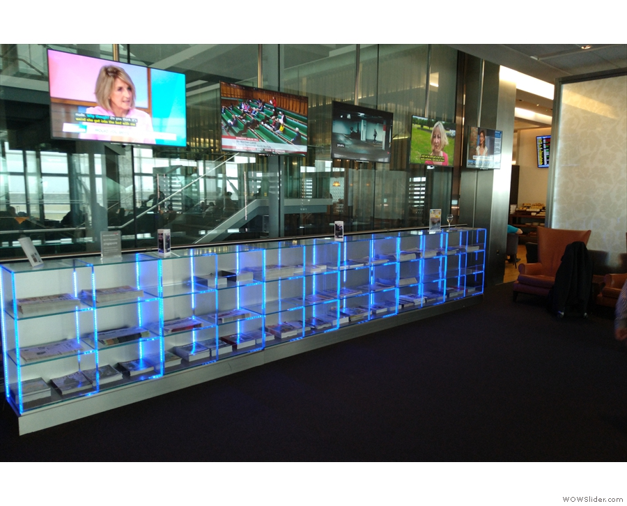 There's also a wide selection of newspapers and TV screens to catch up on the news.