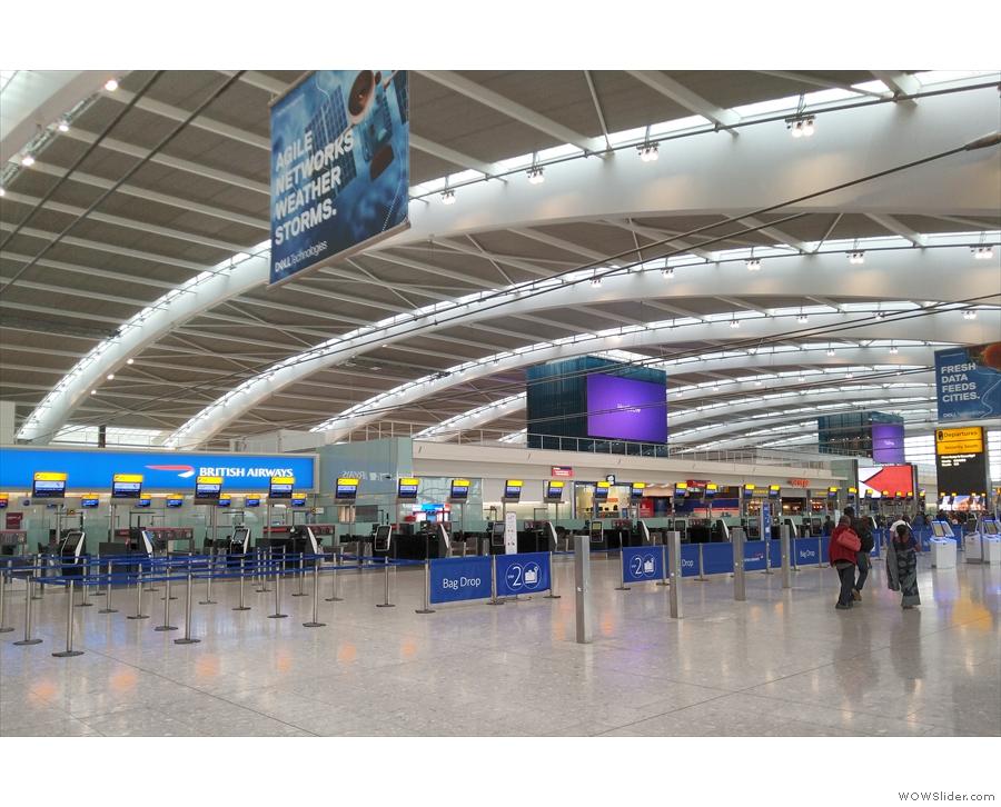 The soaring halls of Heathrow Terminal 5 (as seen in 2019).