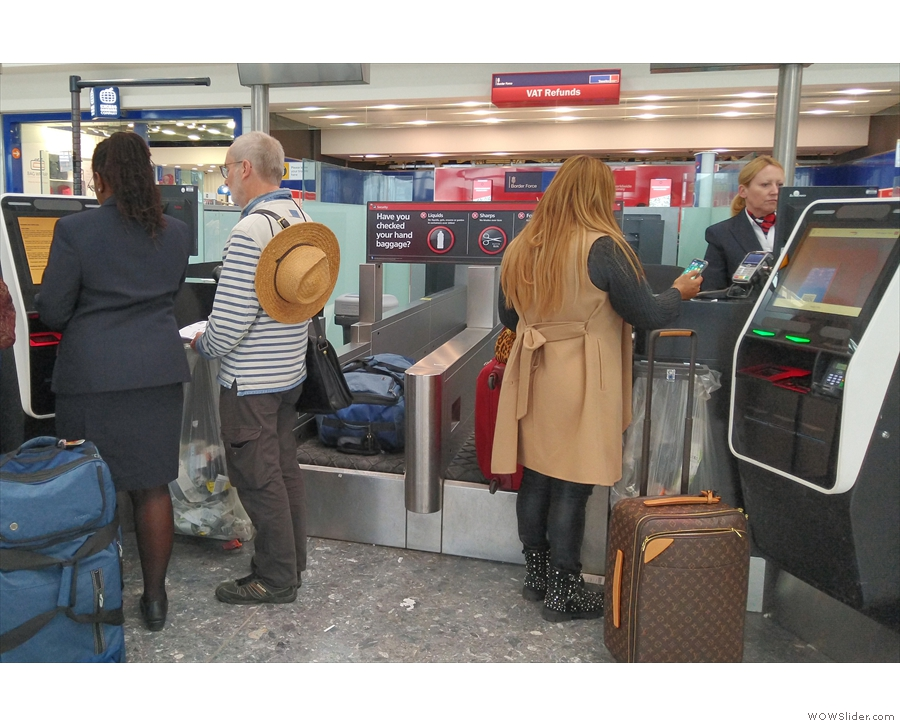 ... use the self-service bag drop desks, where there are always plenty of staff on hand!
