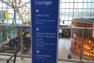 There's a handy sign after security showing you which way to go for the lounges.