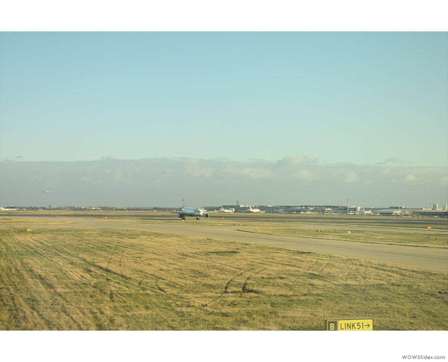 Then we were off and taxiing, coming out of the south side of the B Gate Block...