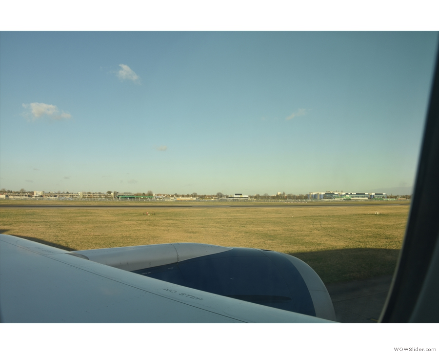... before cutting over to the north side and taxiing the full length of...