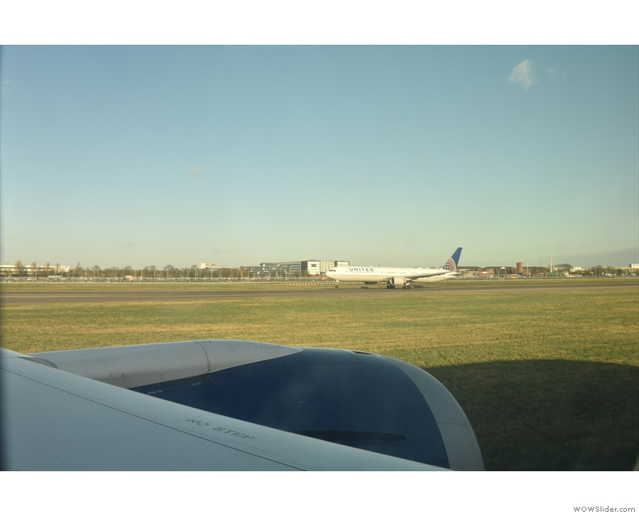 ... the northern runway, with planes taking off all the time.