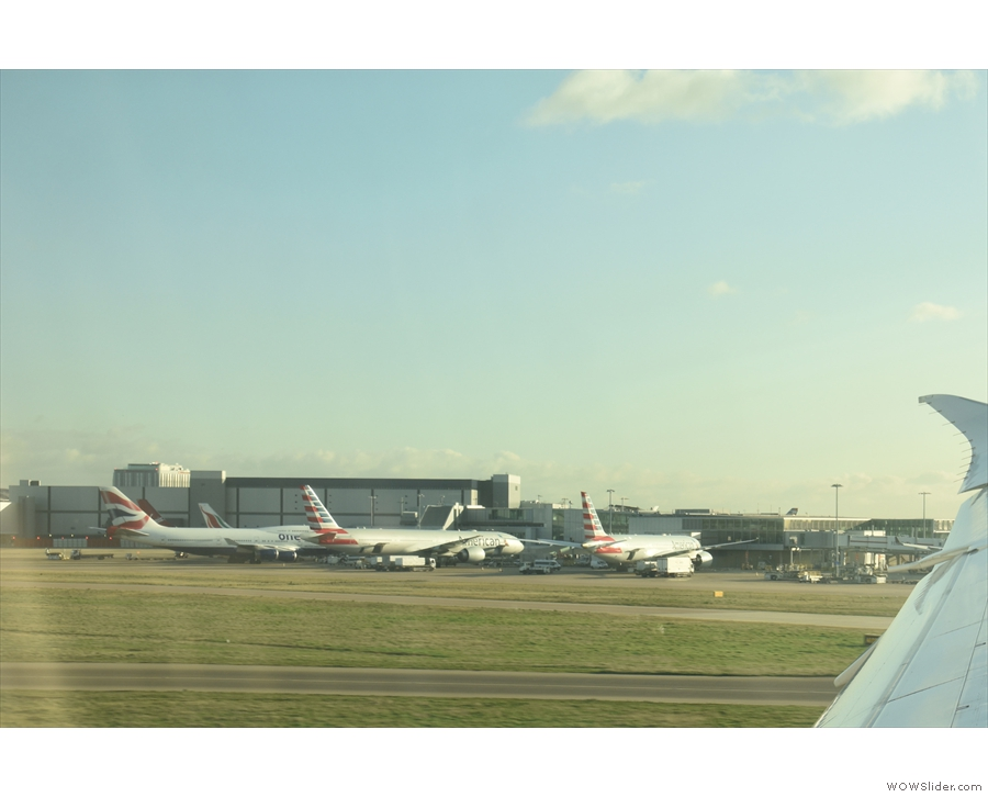 ... just as we draw level with Terminal 3...
