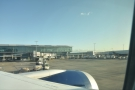 Of course, we then sat on the tarmac for five minutes while we...