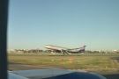 This is an Aeroflot flight at the moment of take off...