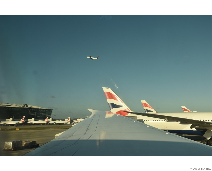 ... although my view was partially obscured by the wing!